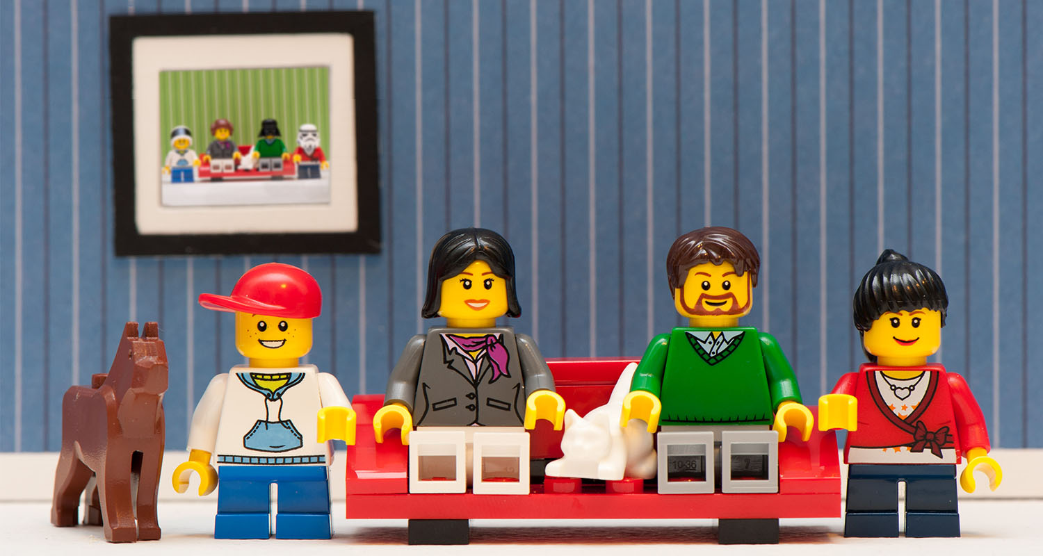 Family reunion portrait lego