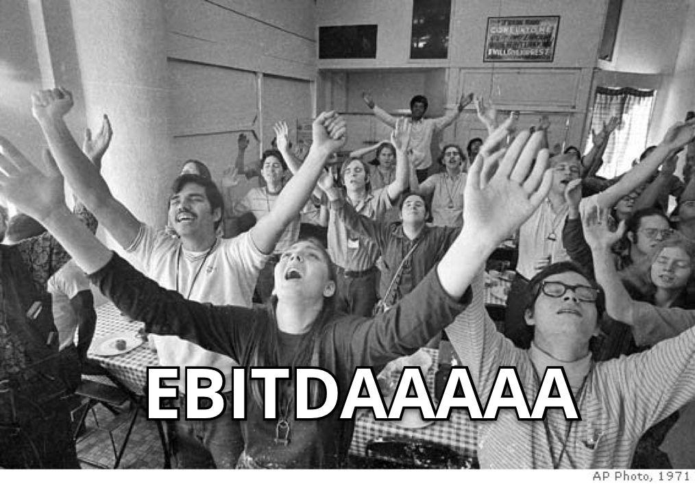 mba students praising EBITDA