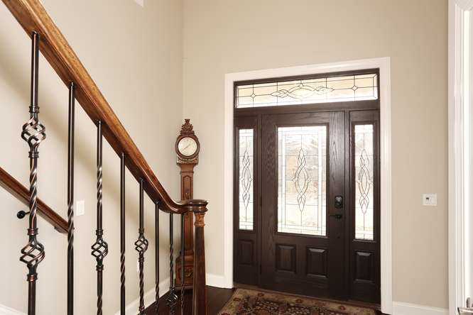 Interior Foyer Facing Door