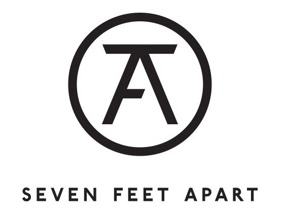 Seven feet apart logo