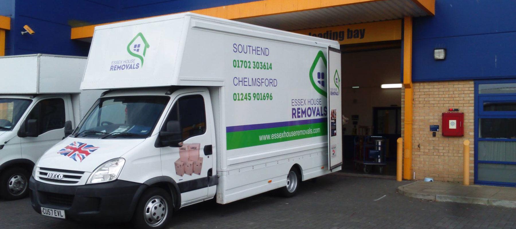 unloading van self storage essex