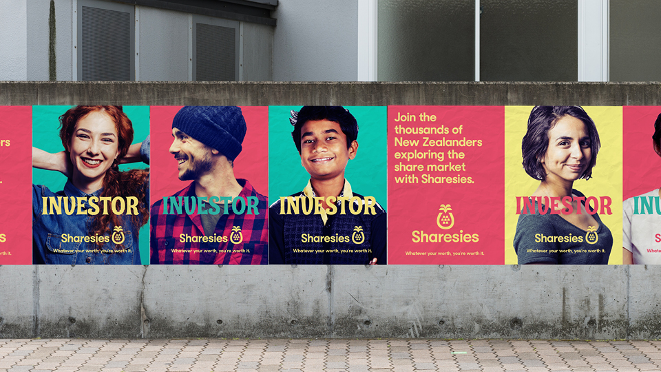 Outdoor posters 2 - Sharesies brand identity case study
