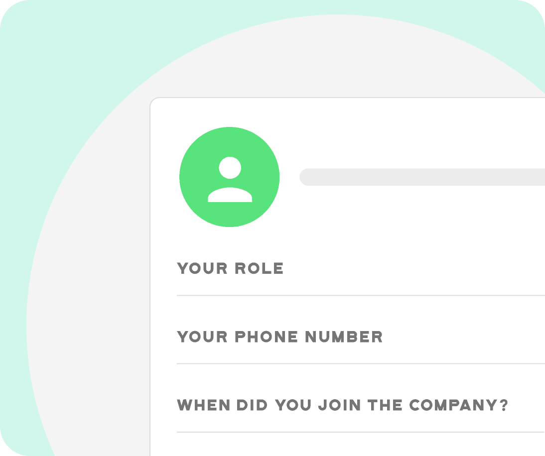 employee using onboarding feature