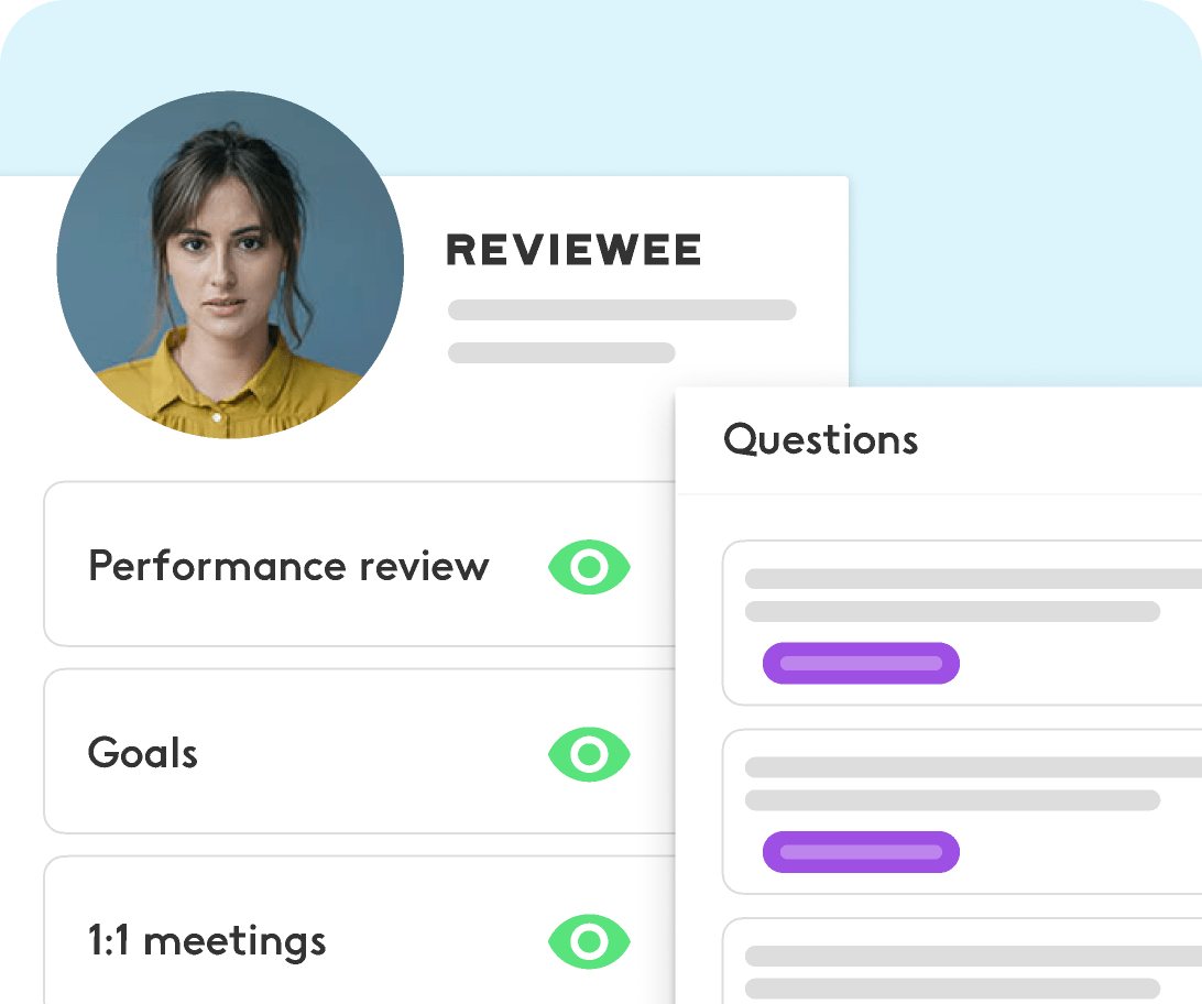 employees using performance review dashboard
