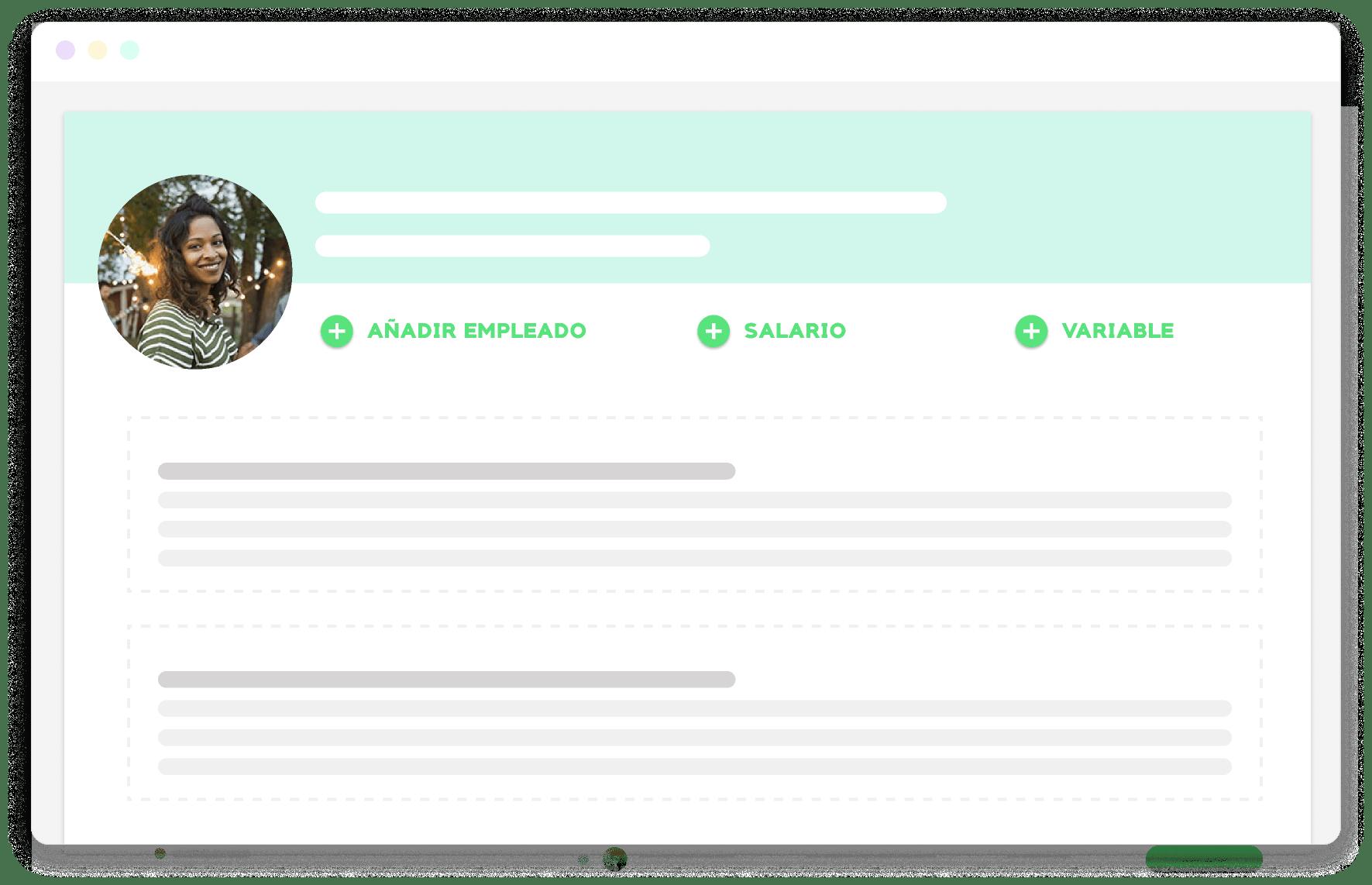 ejemplo de la funcionalidad de informes de nominas de Kenjo