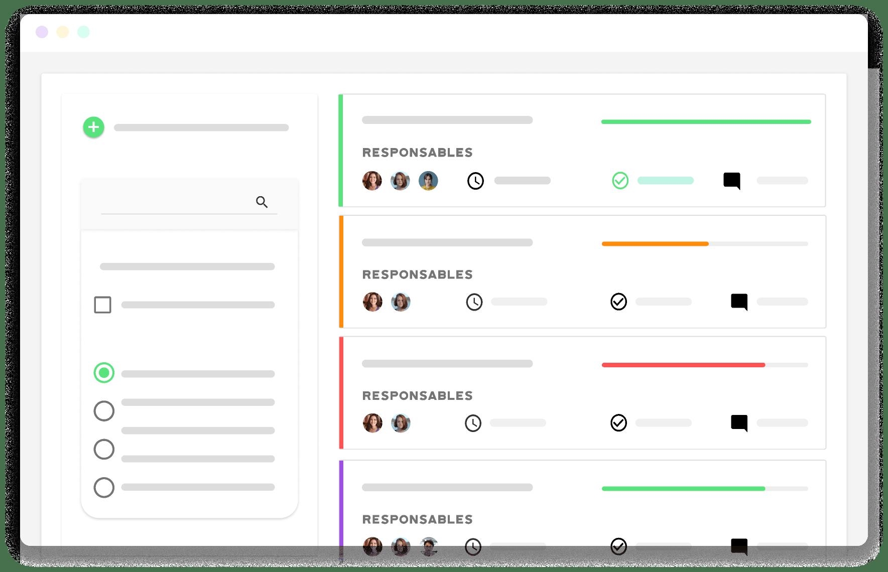 ejemplo de interfaz del software de Kenjo