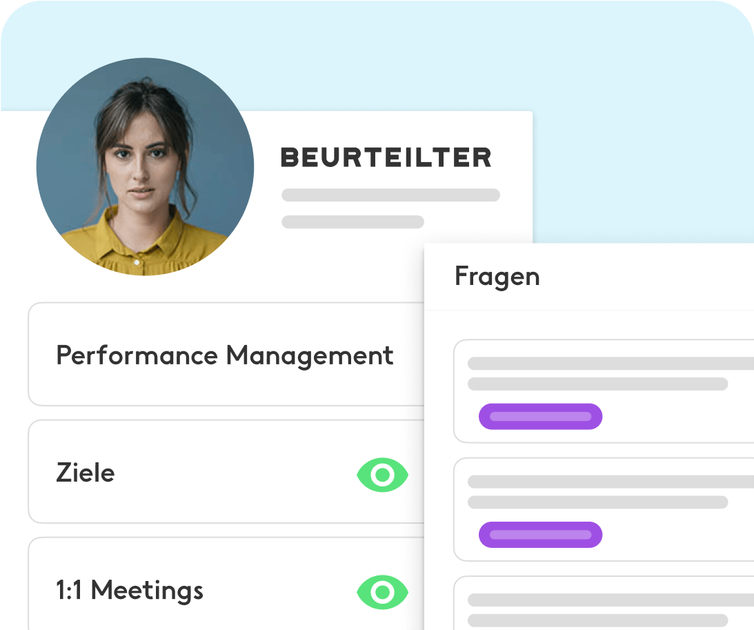 Mitarbeiter verwenden Performance Management Dashboard