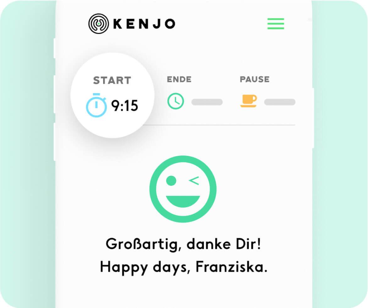 Büroanwesenheit-App Kenjo