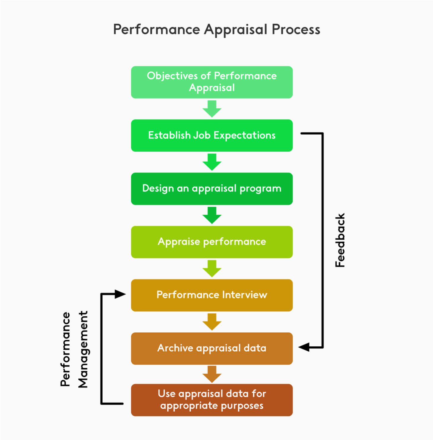 Diagram of the performance appraisal process