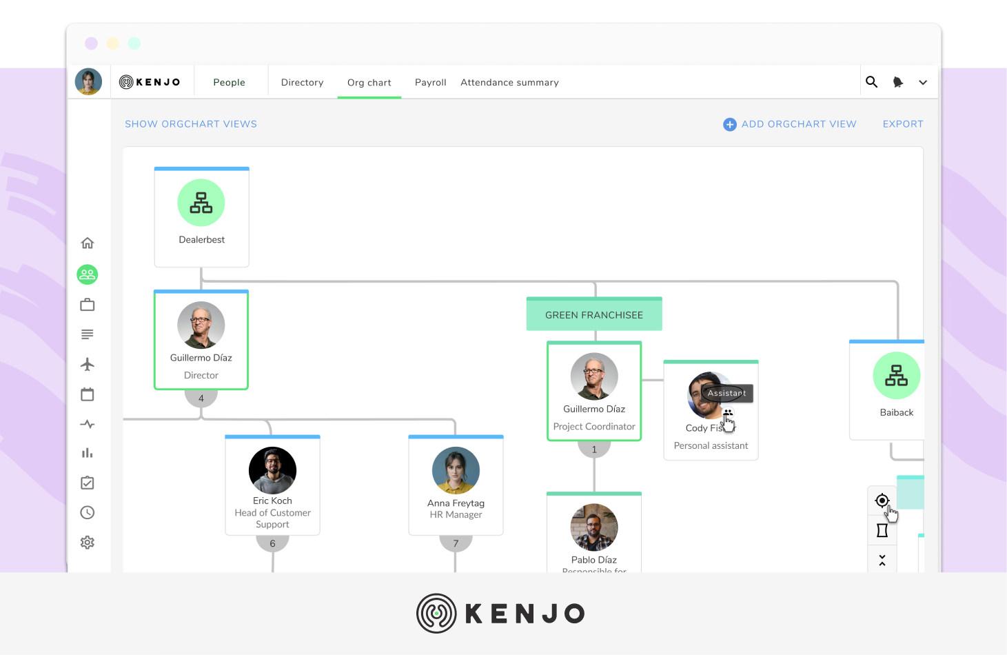 portal del empleado de Kenjo