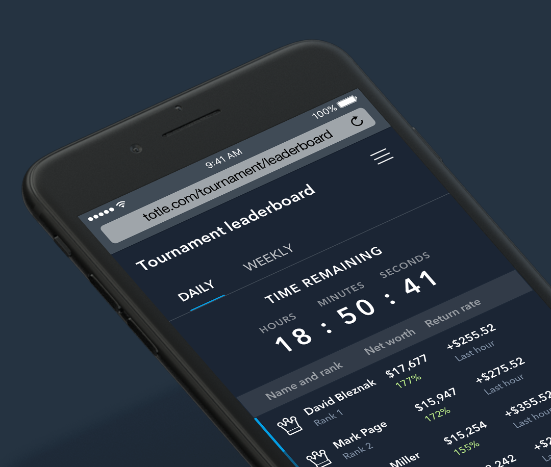 Crypto Portfolio software competition leaderboard