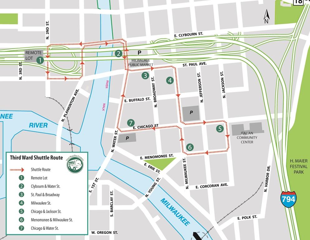 3rd Ward Chicago Map.Shuttle Service