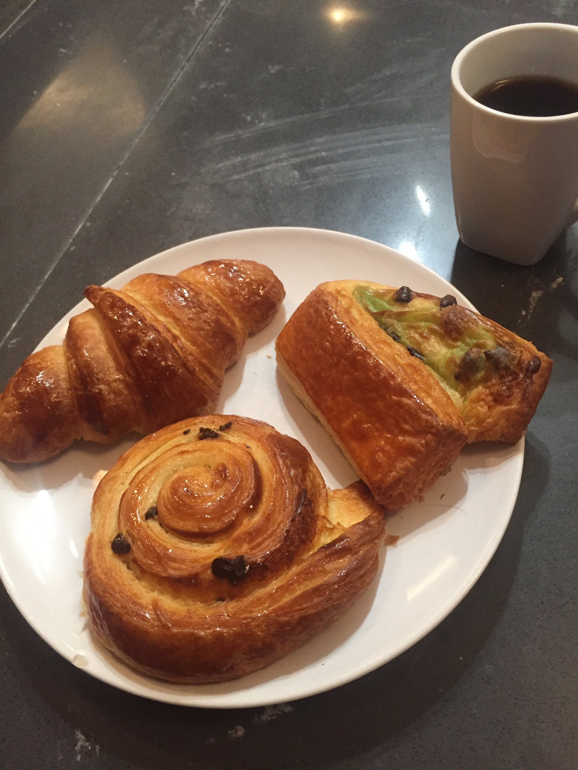 Homemade croissants and pain au chocolat
