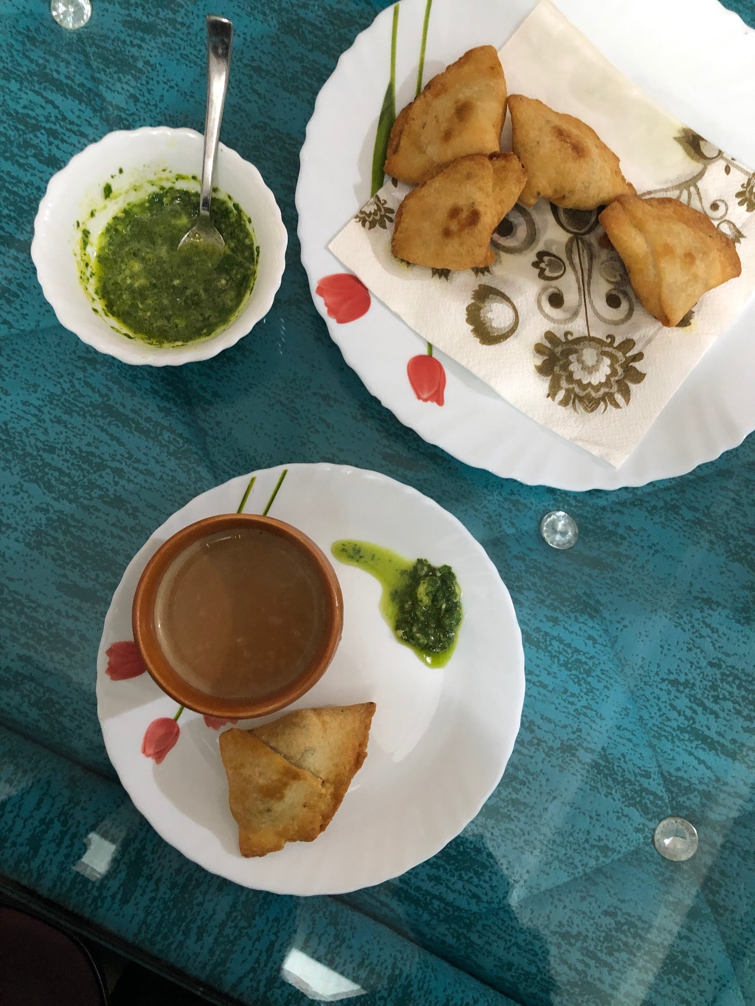 Chai Tea, Samosas, and Churtney from Cooking Class, Delhi