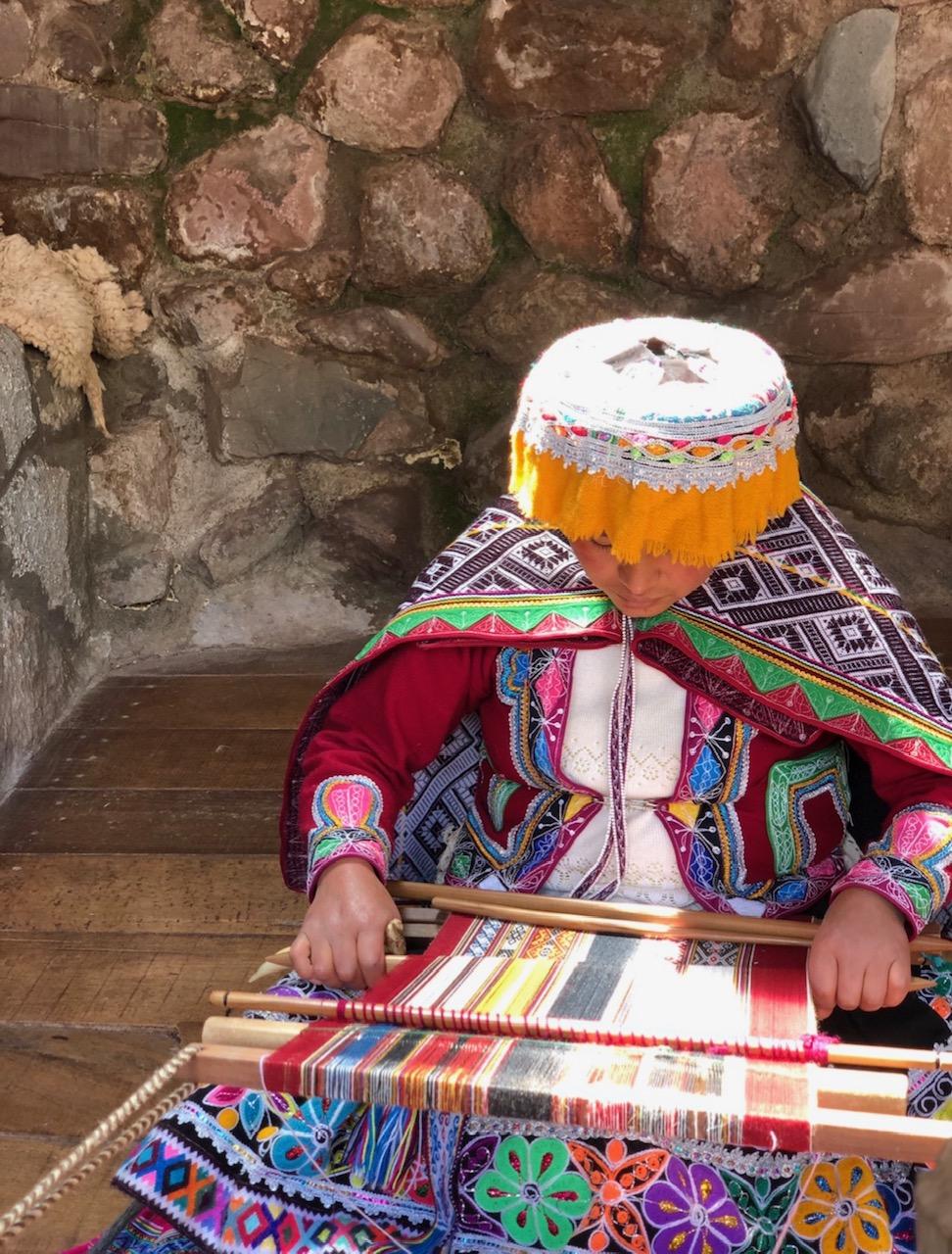 Alpaca Yarn Weaving