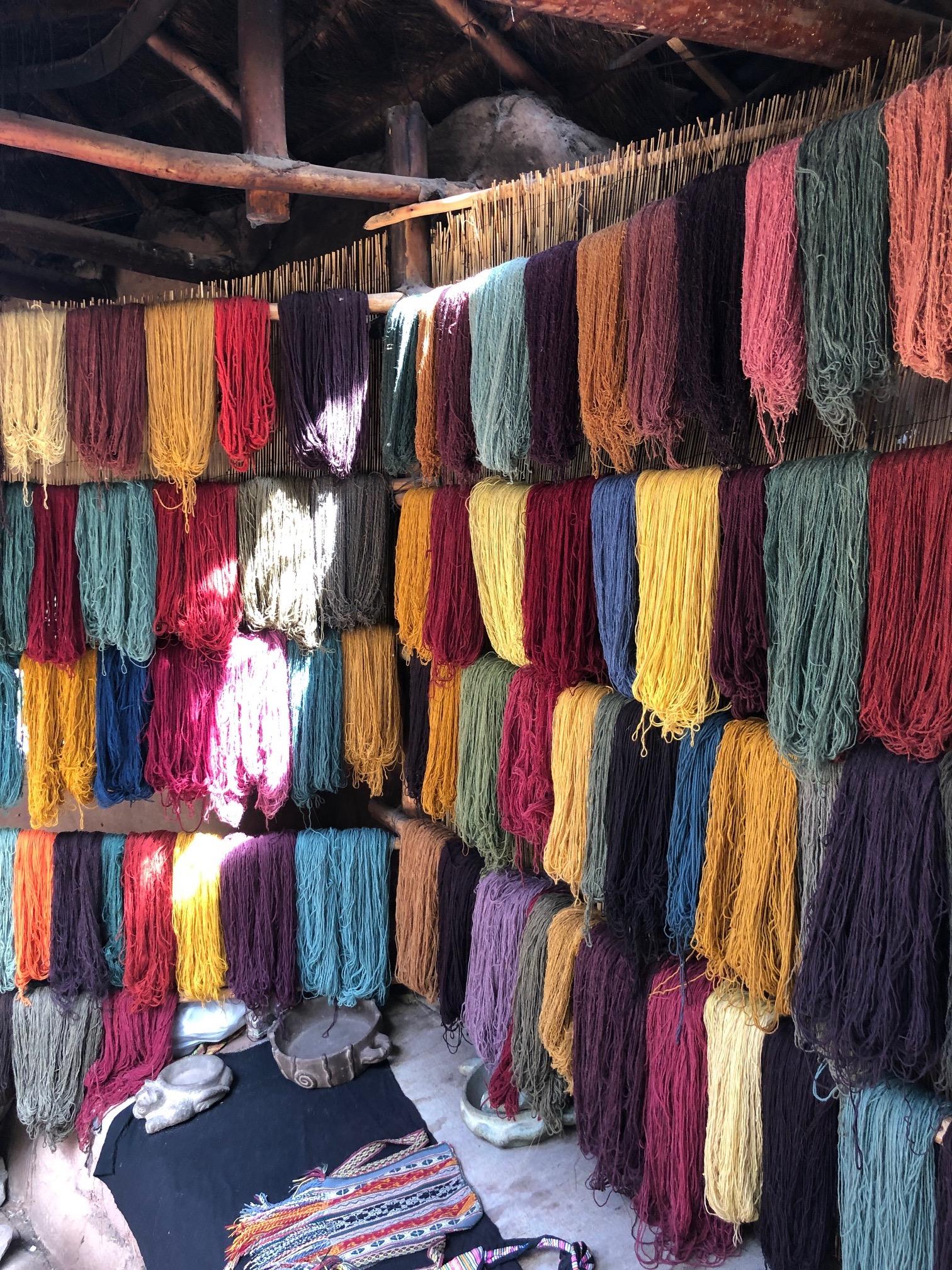 Dyed Alpaca Yarn