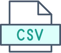 Icon of a CSV file