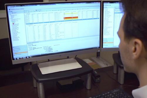 Man At Computer Image