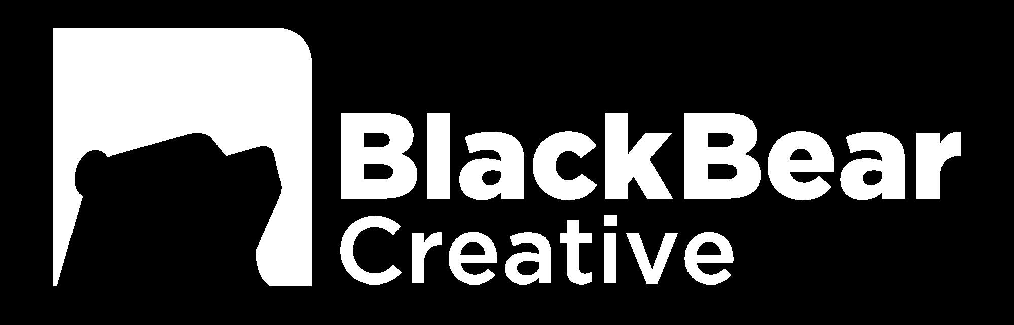 Black Bear Logo White