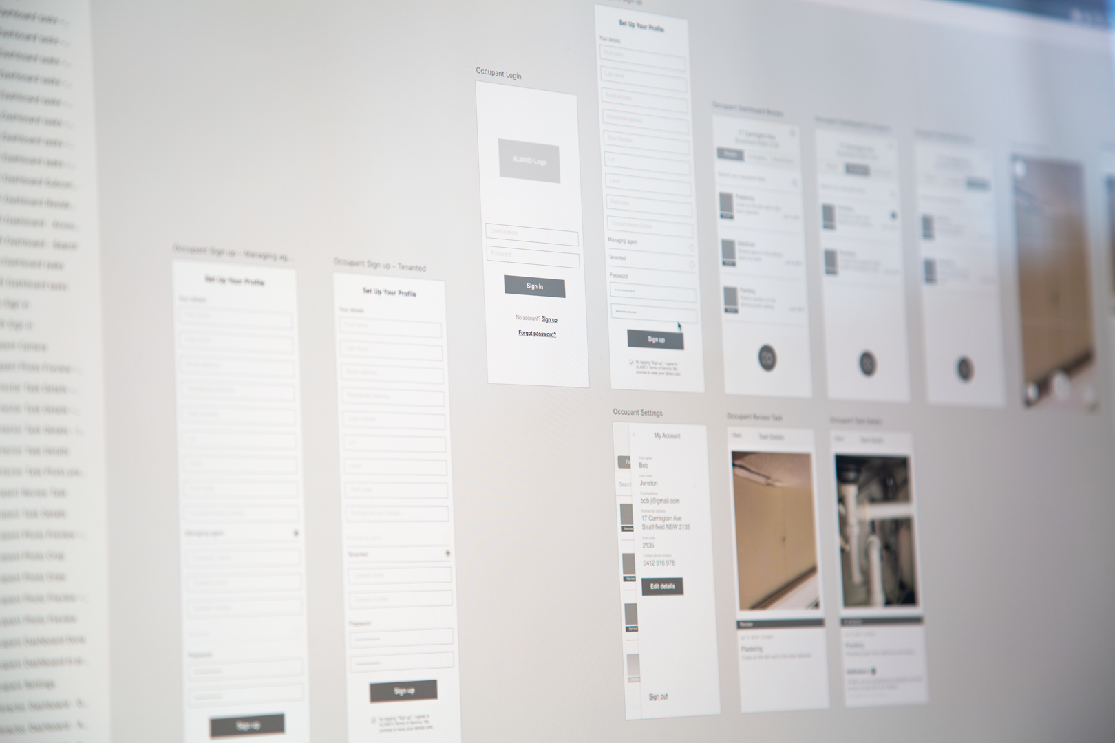 User Interface planning