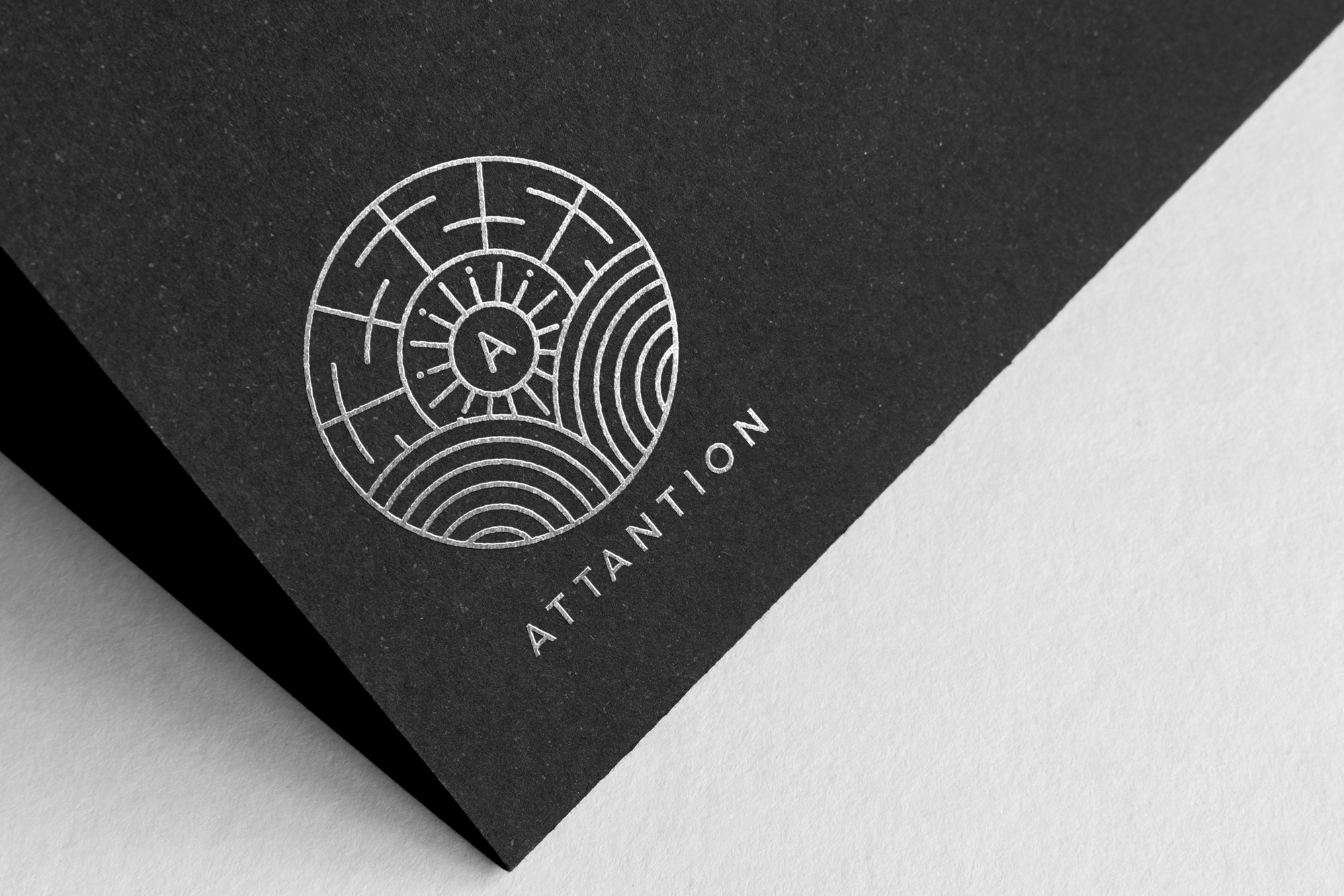 Attantion Silver Foil Logo