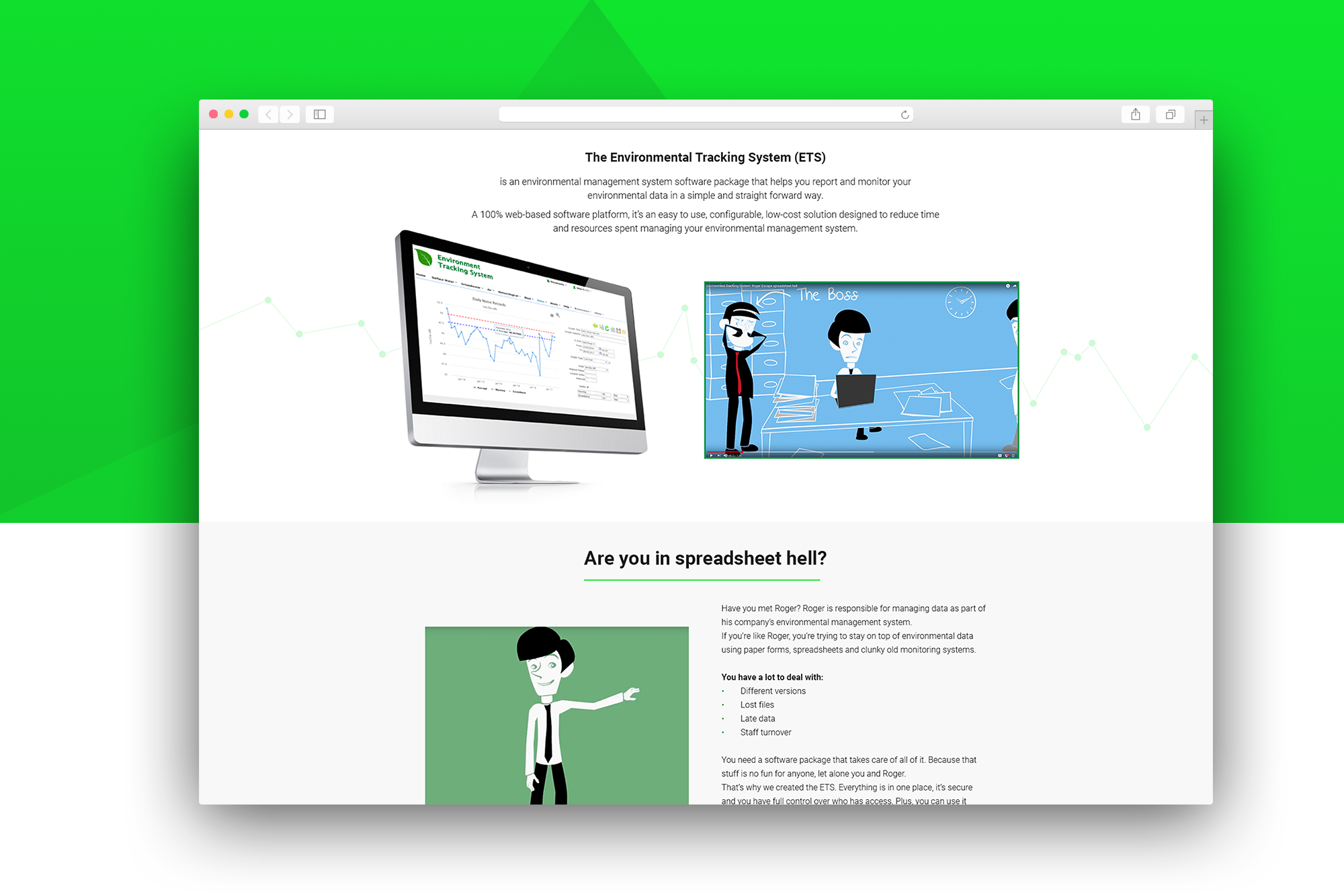 ETS landing page example 1