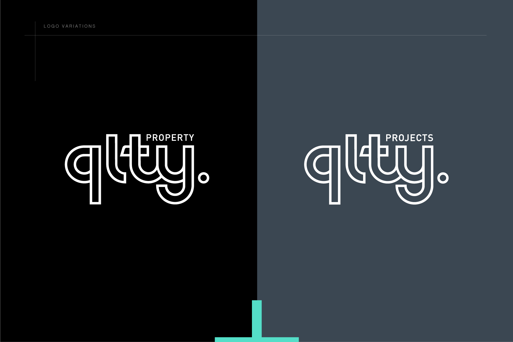 QLTY logo colour combination