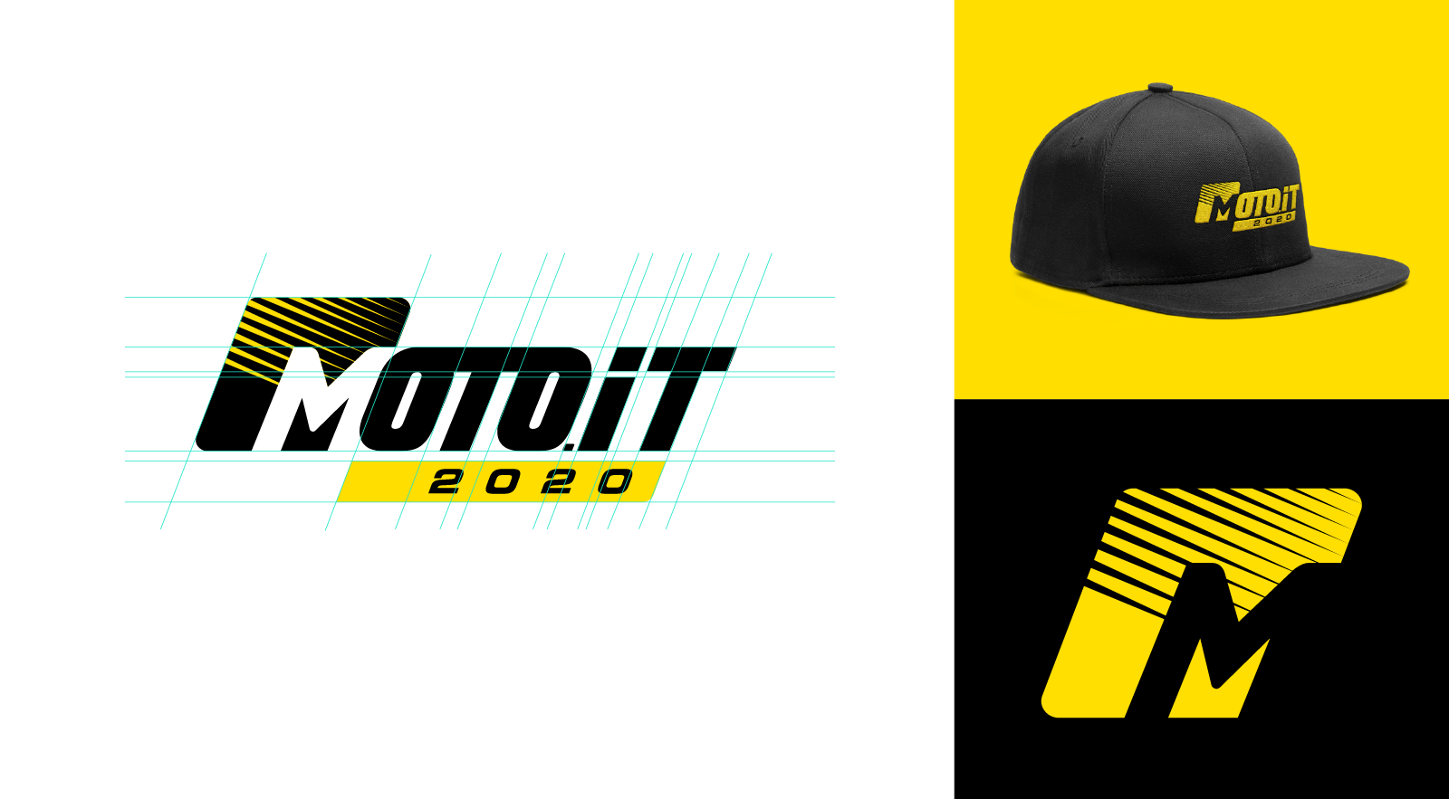 Moto.it cap and logo symbol concept