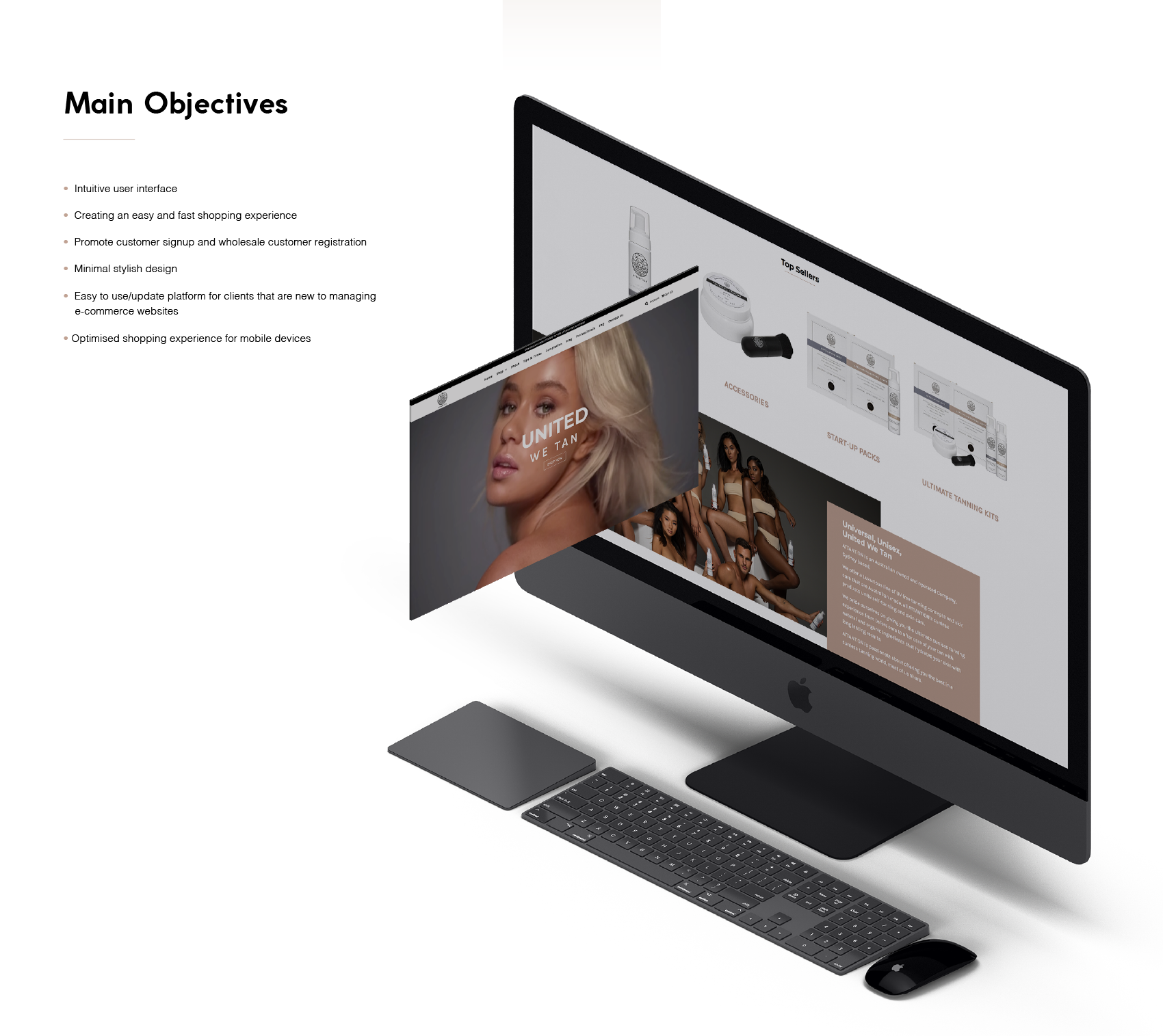 Attantion Shopify website Objectives
