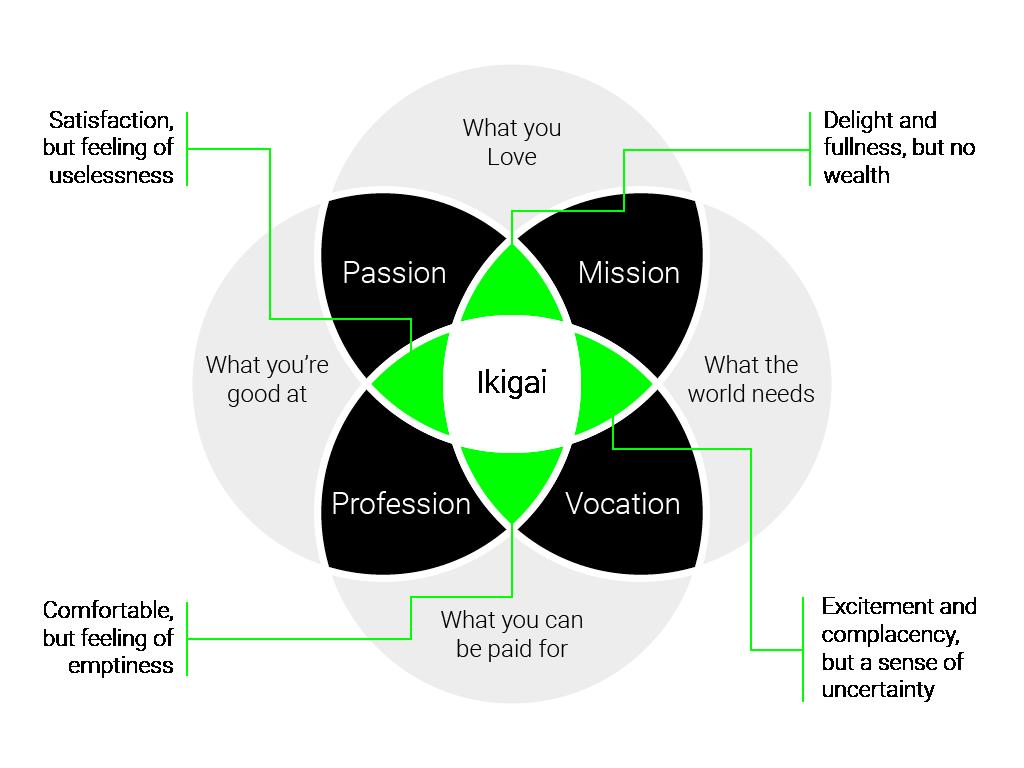 NINETY Careers Ikigai diagram