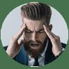 Man Suffering with Sinus Pressure