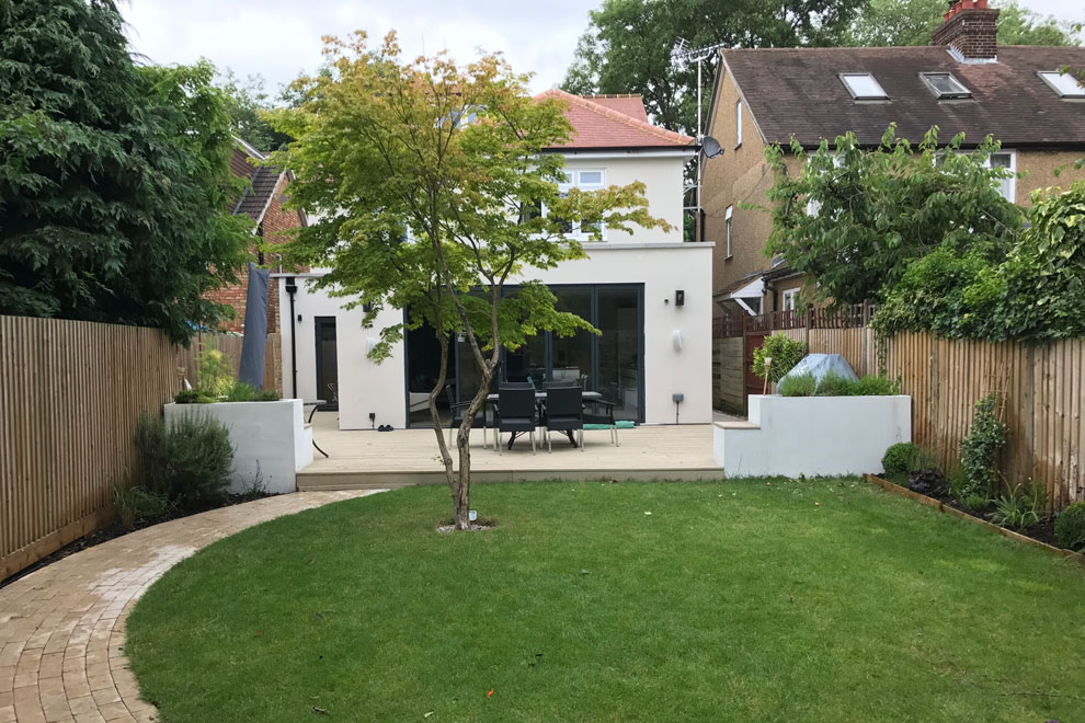 Contemporary style family garden, St Albans