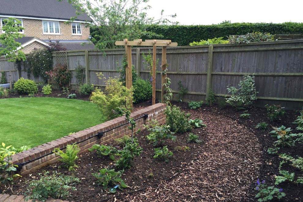 Family garden in St Albans