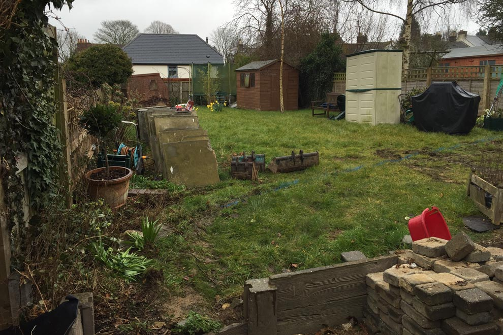 Family garden in Wheathampstead, St Albans