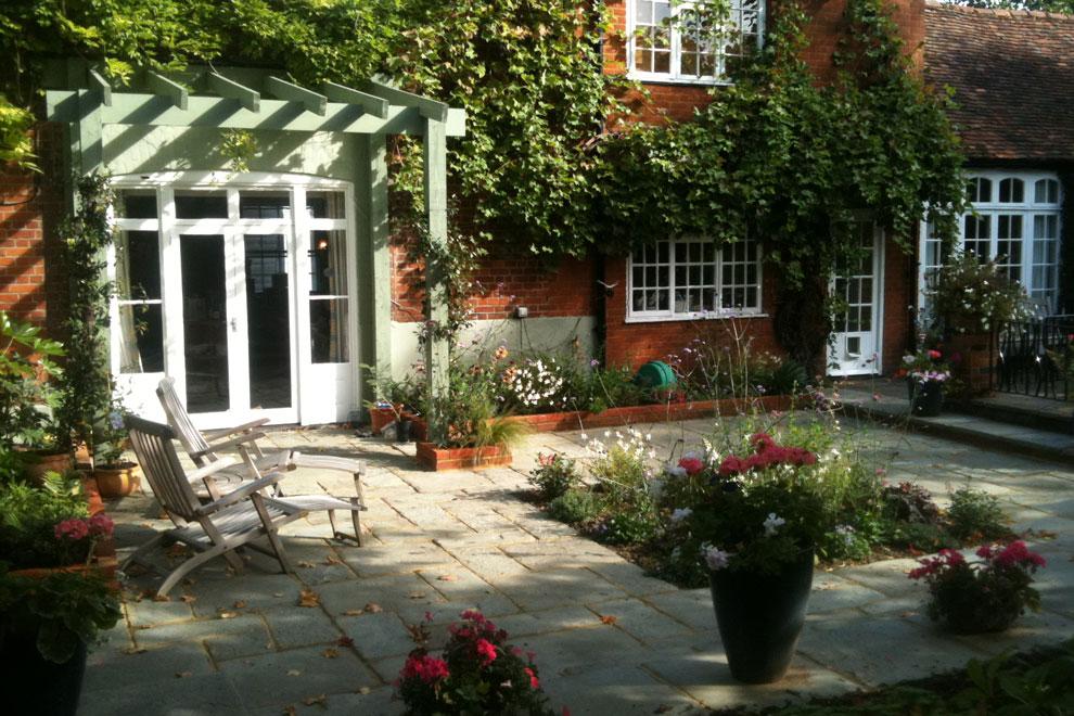 Town garden in Wheathampstead
