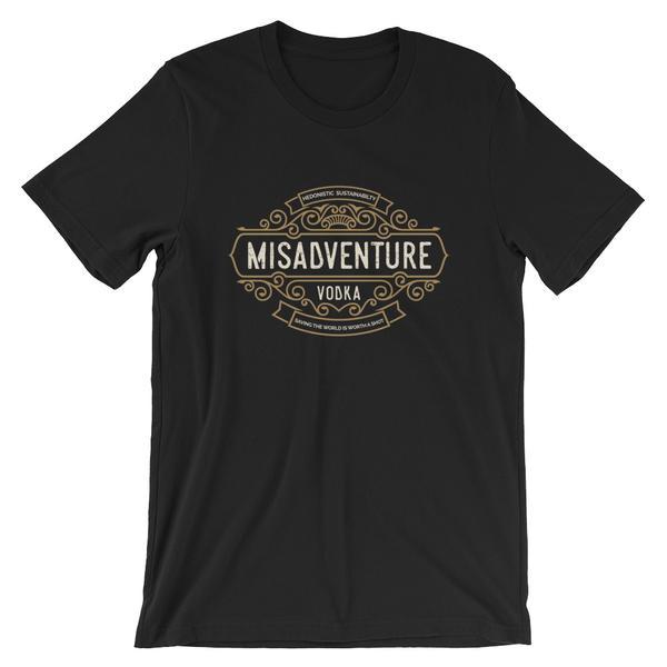Misadventure Logo - Short-Sleeve Unisex T-Shirt (Dark)