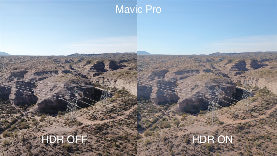 In The Picture Above You Can See How Mavic Pro Produces Completely Different Results HDR Shot Is Much More Flat Looking And Theres Detail