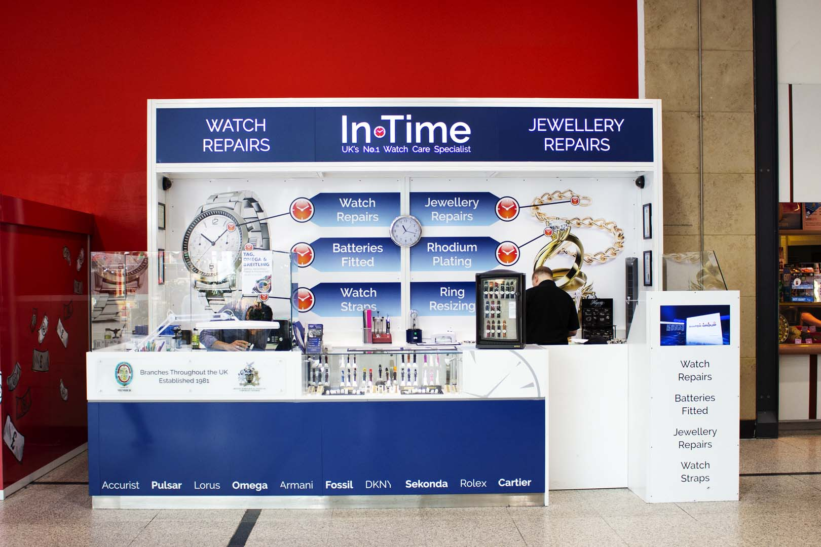 Flagship In-Time kiosk, expertly built and installed in The Arndale Centre, Manchester by UXG Retail Solutions
