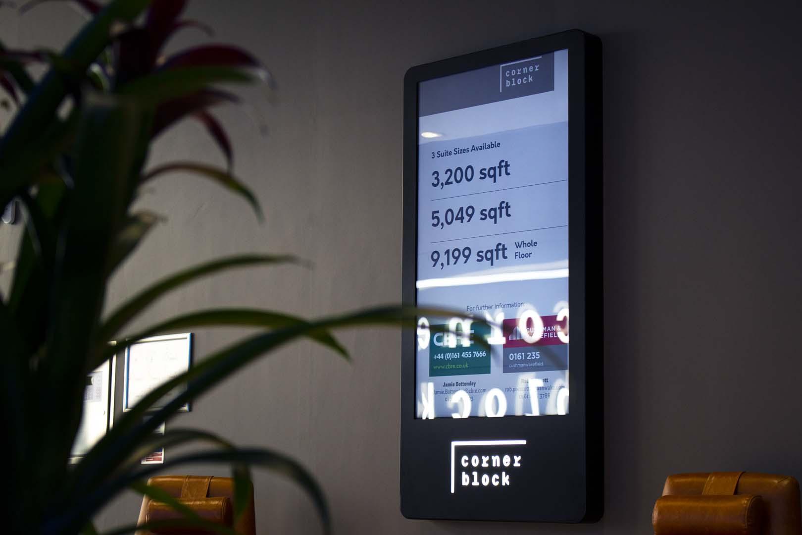 Corner Block Digital Display created by UXG