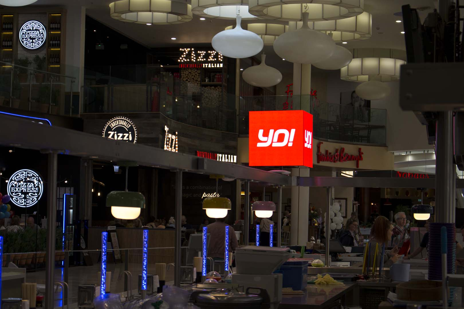 Yo! Sushi LED Cube, designed and created by UXG Dynamic LED