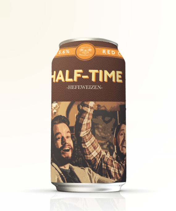Red Clay Brewing Company Half-Time Hefeqeizen can design