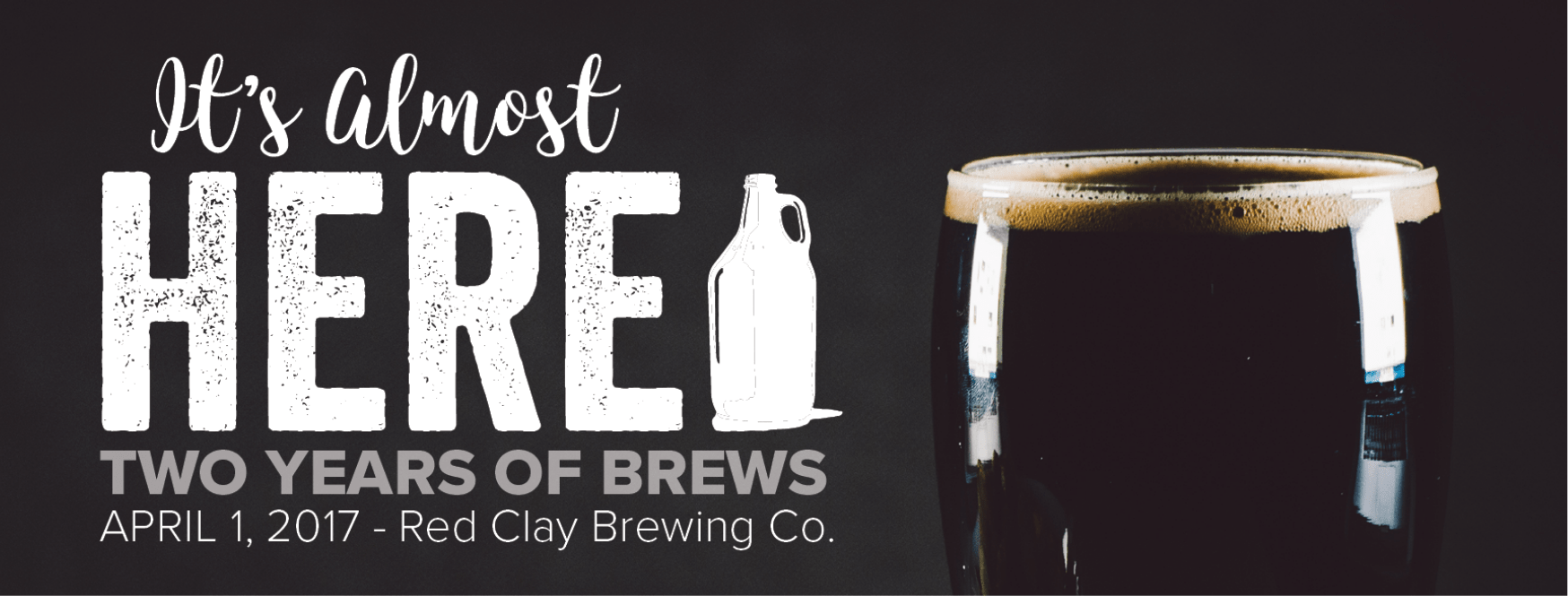Red Clay Brewing Company Anniversary Header