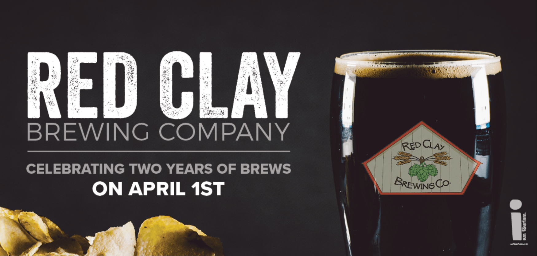 Red Clay Brewing Company anniversary billboard