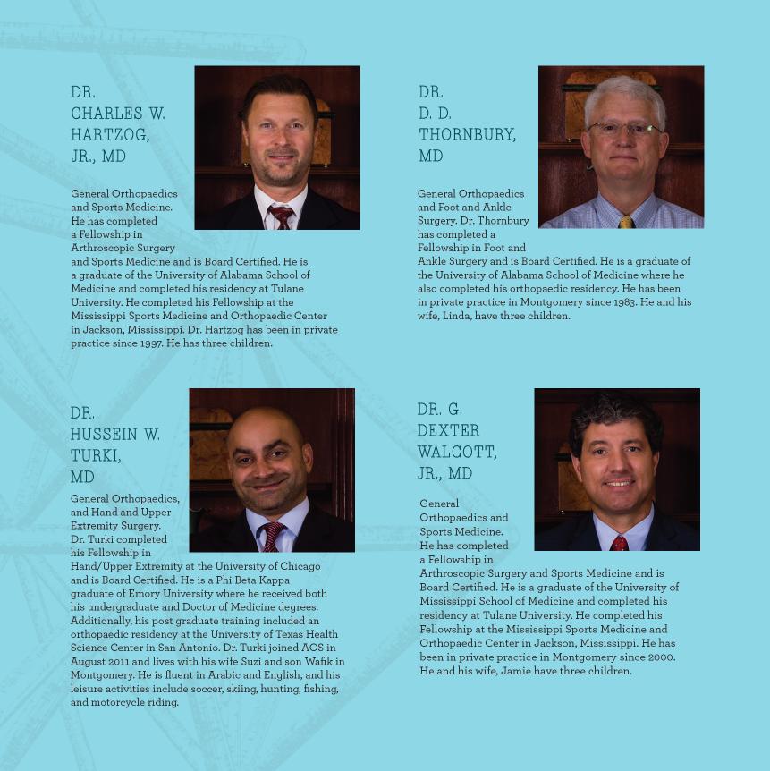 Alabama Orthopaedic Specialists brochure