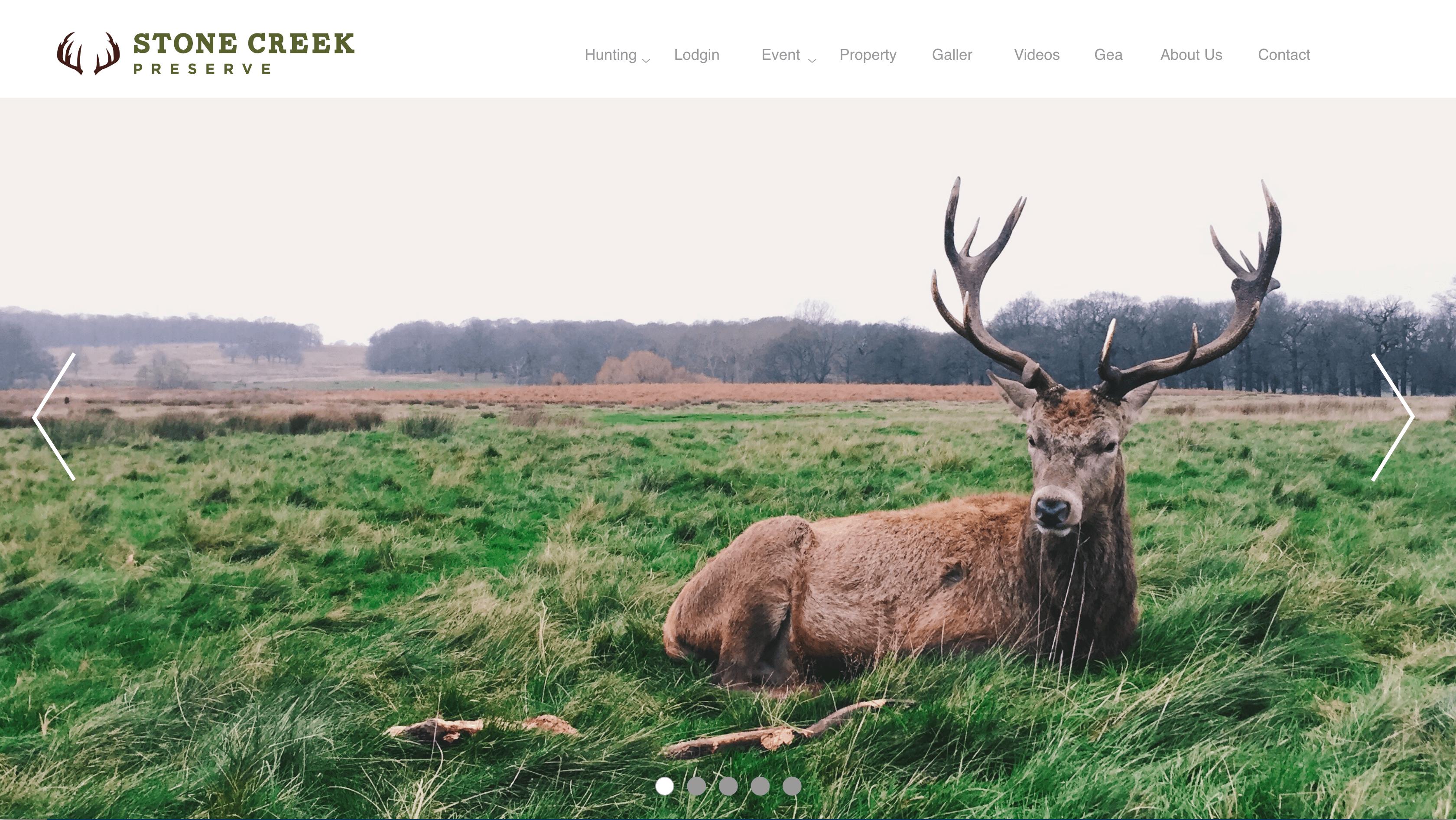 Stone Creek Preserve website