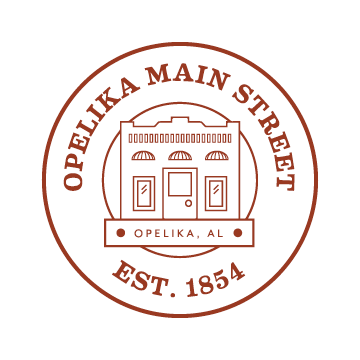 The Opelika Main Street logo