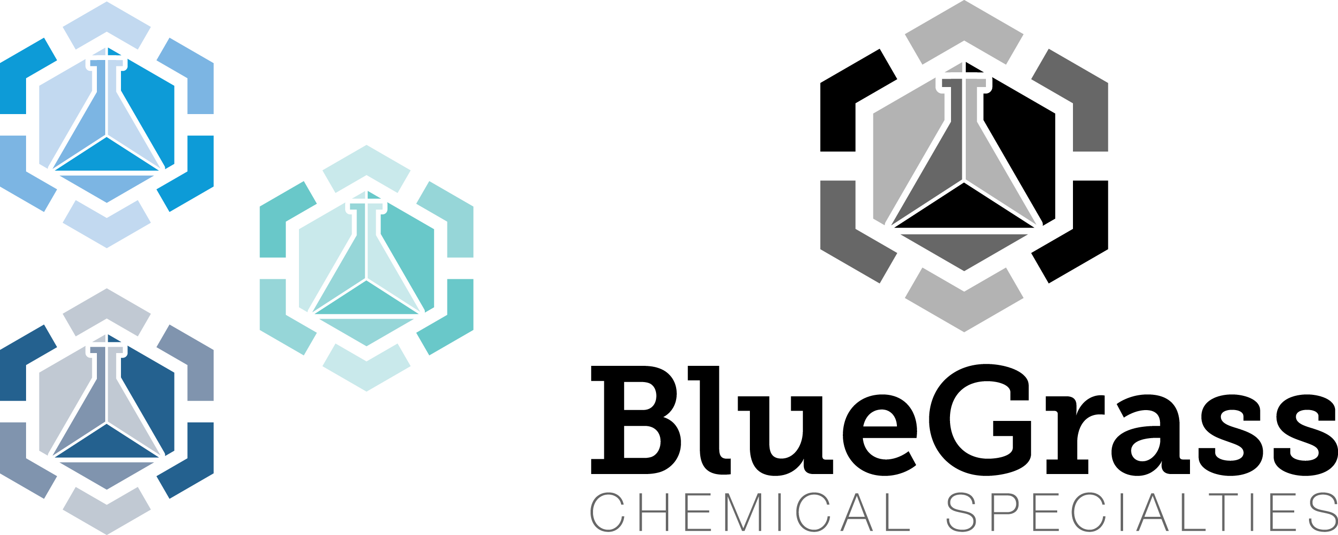 Blue Grass Chemical logo concepting