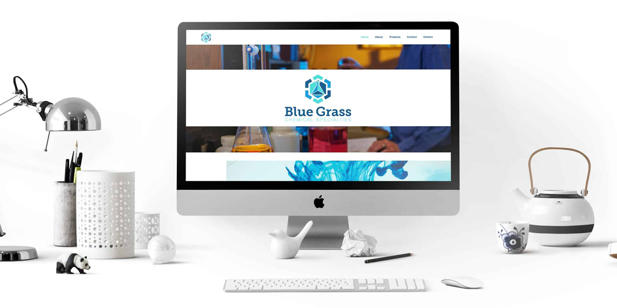 Blue Grass website mockup
