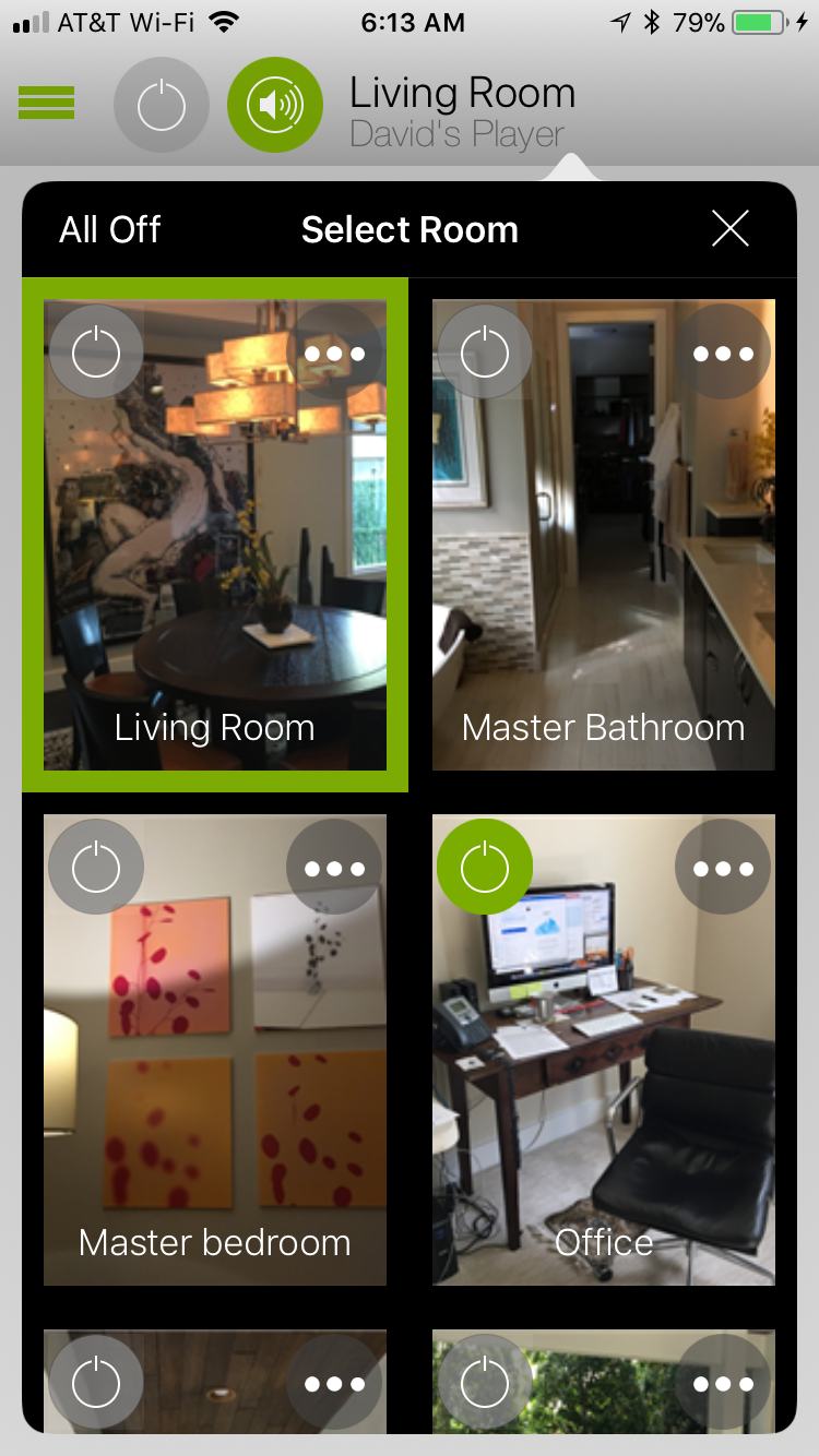 CasaTunes iOS App - Room photos