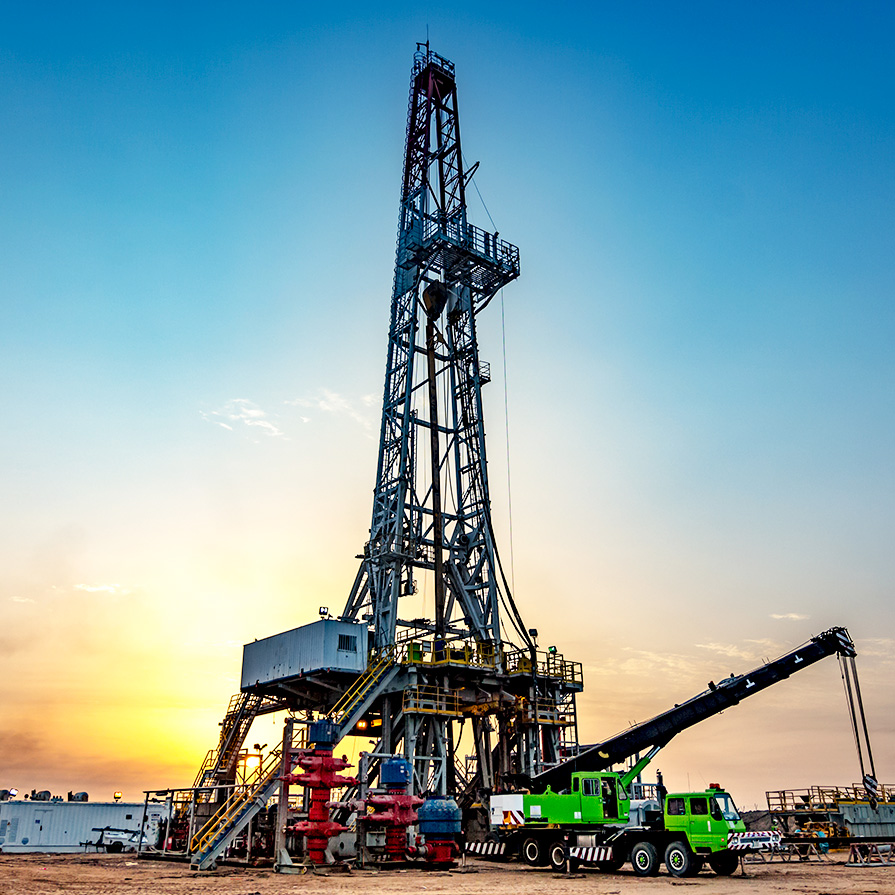 Drill at Sunset